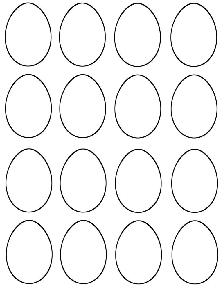Easter Egg Template PDF