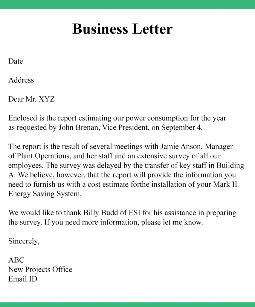 Business Letter Sample PDF