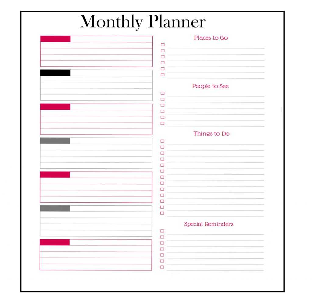 Download Monthly Planner Template 2020
