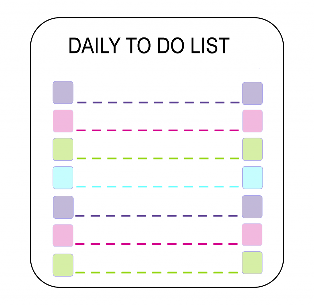 The List 2020.5 Printable Daily To Do List 2020 Templates Best