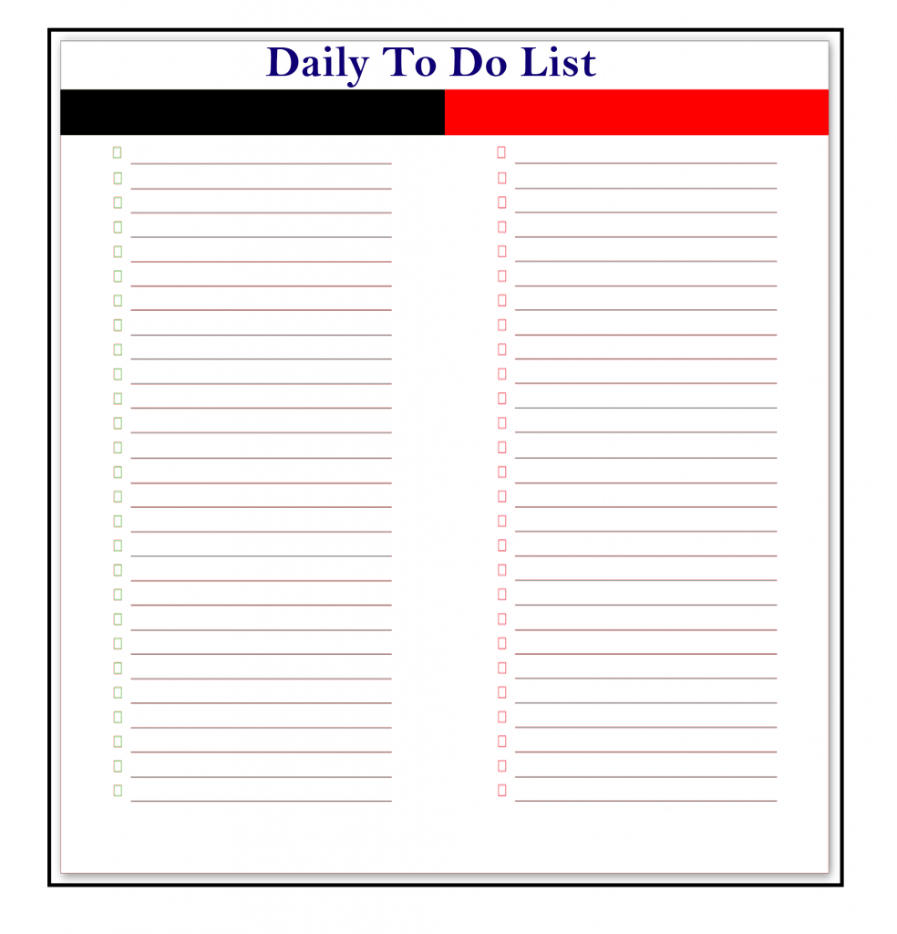 Daily To-Do List Online Template