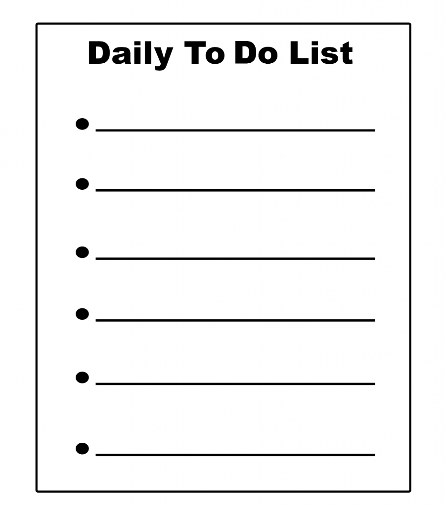 Daily To-Do List Example