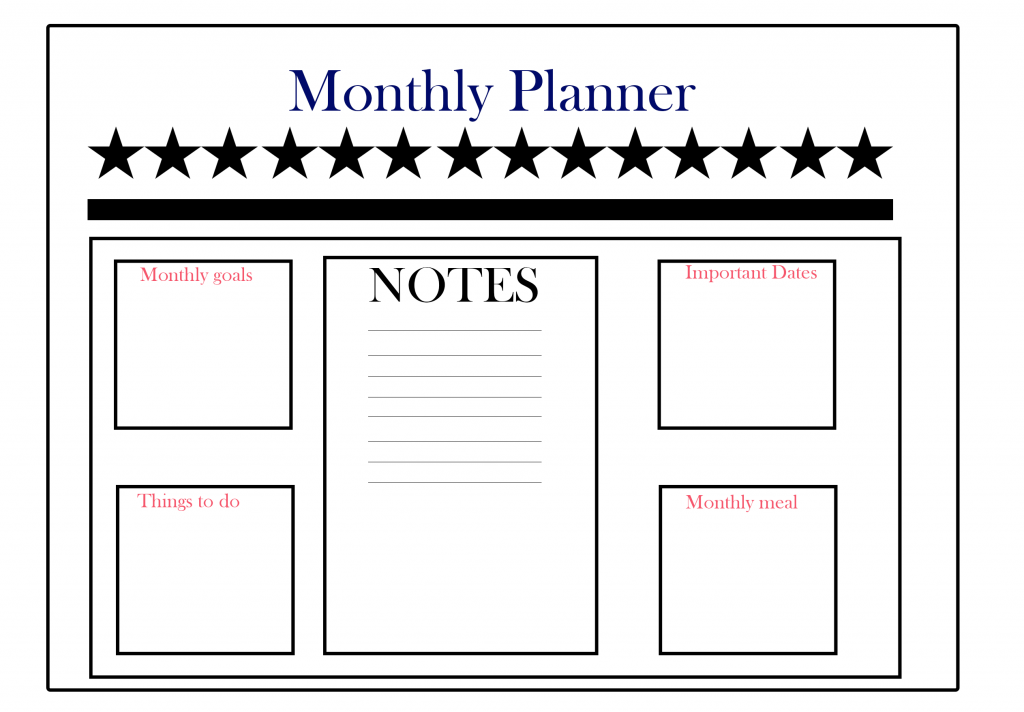 Free Monthly Planner Online Download