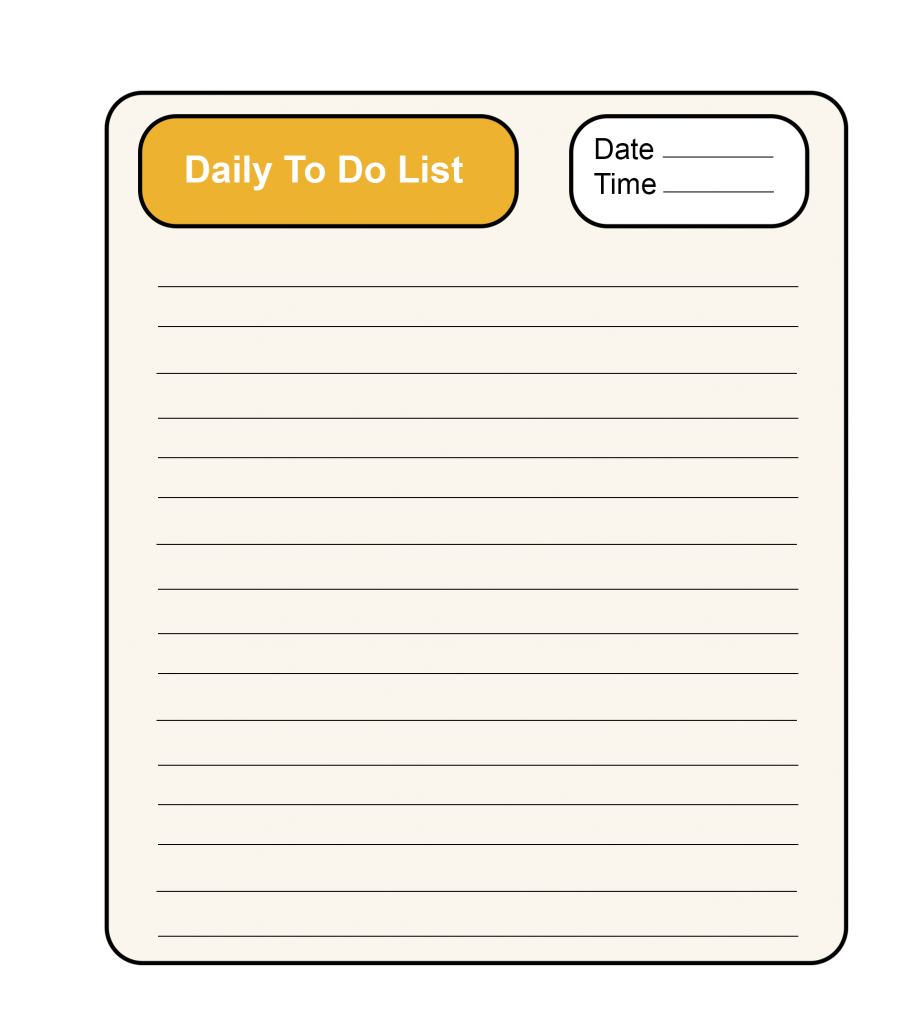 Daily To-Do List Notebook Format