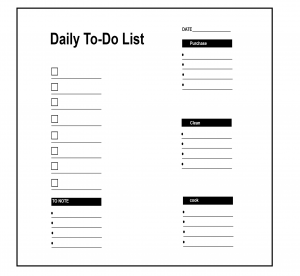 Daily To Do List Notebook