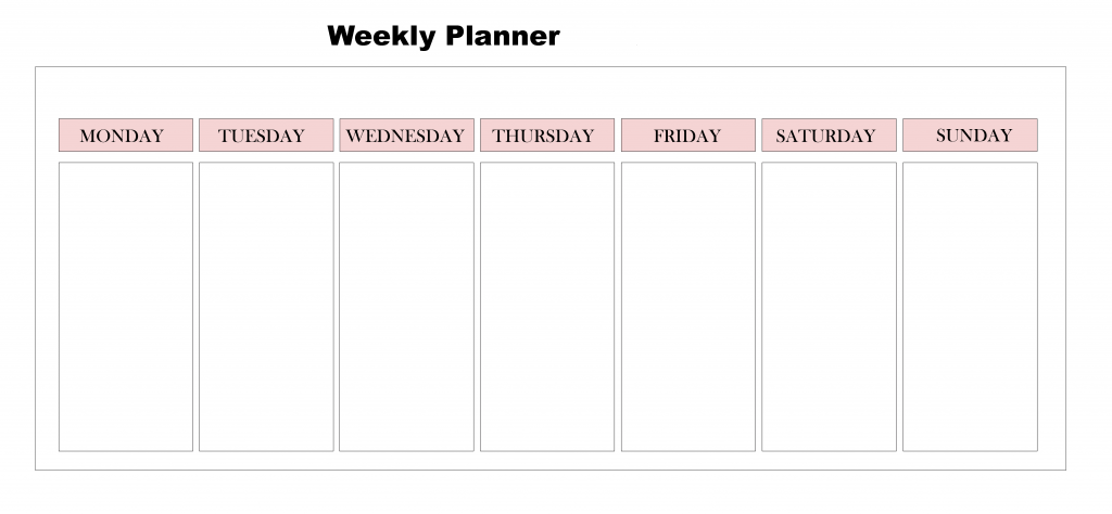 Effortless image within week planner pdf