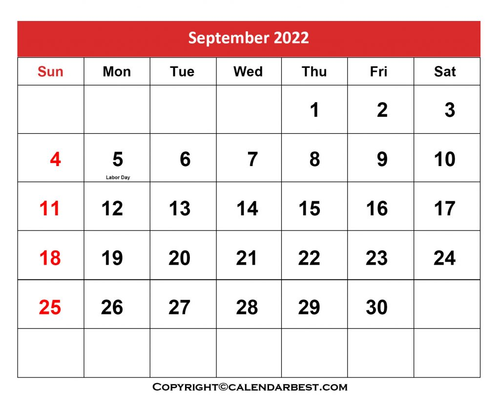 2022 Holiday in September